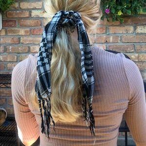 CUTE Checkered Hair Scarf